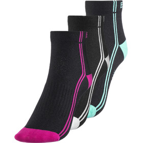 Endura Coolmax Stripe Cycling Socks Women 3-Pack black